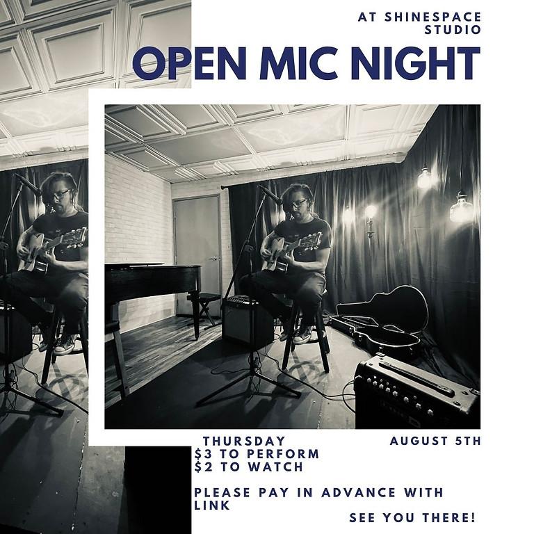 Open Mic Night - August 5th!