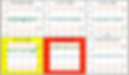 Centerlining Dashboard- 1 red, 1 yellow.