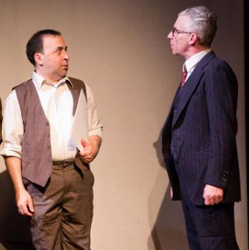 Timothy McCown Reynolds as Martin Goodman & Steven Ratazzi as Jack Kirby in KING KIRBY by Crystal Skillman & Fred Van Lente Directed by John Hurley