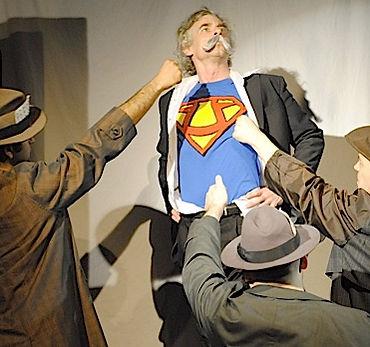 Timothy McCown Reynolds as Friedrich Nietzsche / Ubermensch in ACTION PHILOSOPHERS! by Crystal Skillman & Fred Van Lente Directed by John Hurley