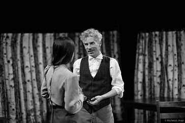 Timothy McCown Reynolds as Astrov & Clara Francesca as Yelena in UNCLE VANYA Directed bt Michael Scholar, Jr.