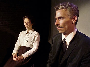 Timothy McCown Reynolds as Eugene Morgan & Ivanna Cullinan as Fanny Minifer in THE MAGNIFICENT AMBERSONS by Oeson Welles Directed by Ian W. Hill