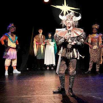 Timothy McCown Reynolds as King Balthazar the Builder in BETHLEHEM OR BUST! by Jeff Lewonczyk Directed by Hope Cartelli