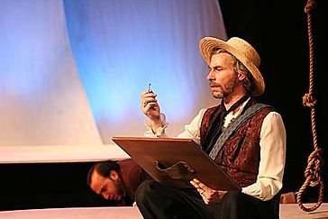 Timothy McCown Reynolds as Augustus Earle in ON THE ORIGIN OF DARWIN by Kirk Wood Bromley Directed by Joshua Spafford