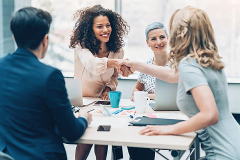 woman interviewing group iStock-91574130