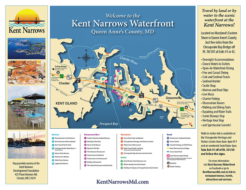 The Map of Kent Narrows Waterfront