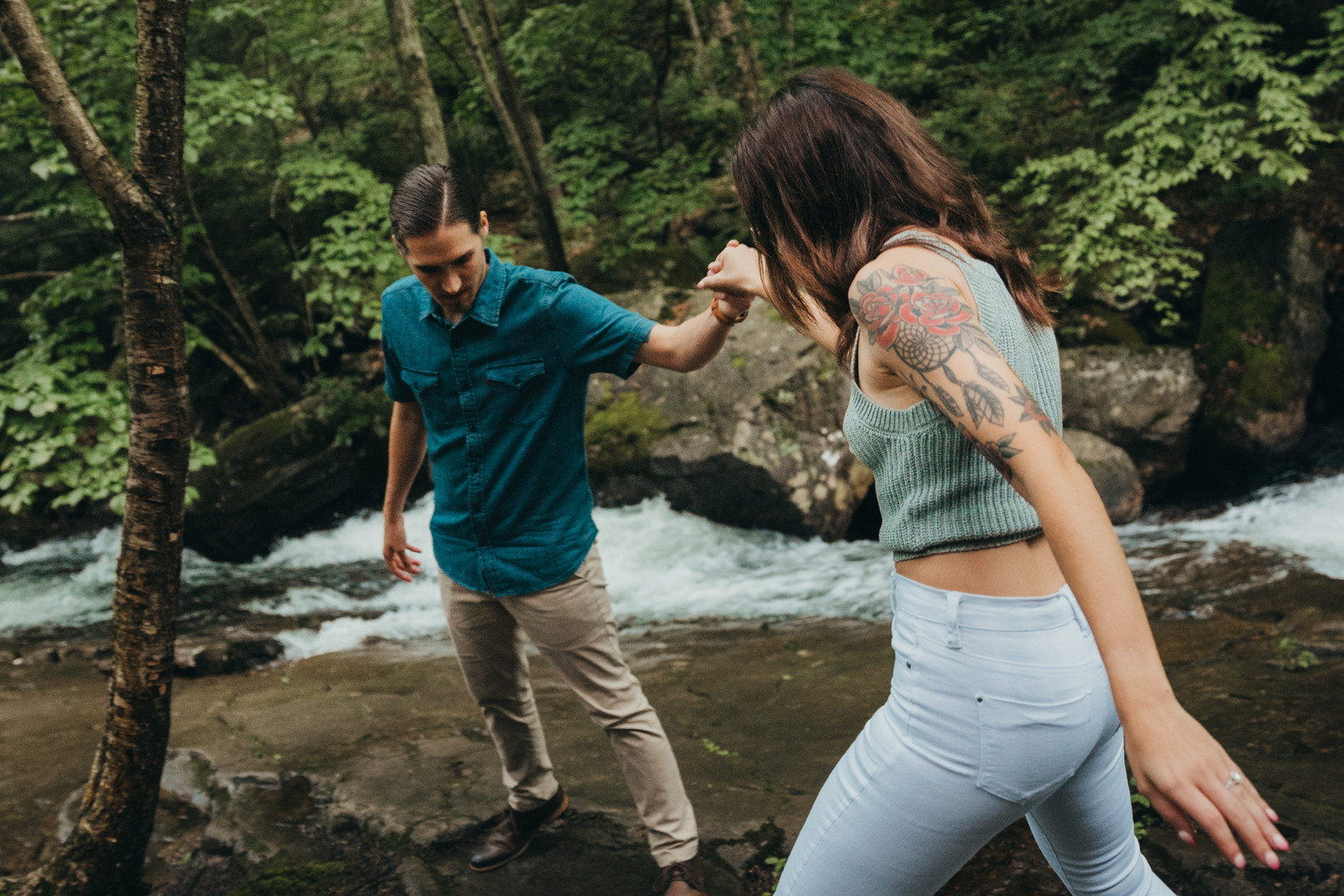 Kaitlin and Adam Engagment - Seven Tubs-