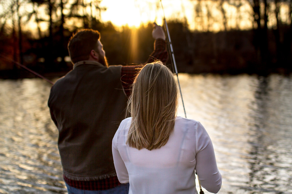 Shot from the Maros Engagment Shoot at Brady's Lake in the Poconos