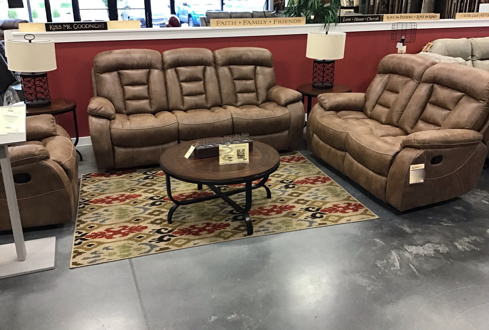 The Infinity 3 pc reclining set