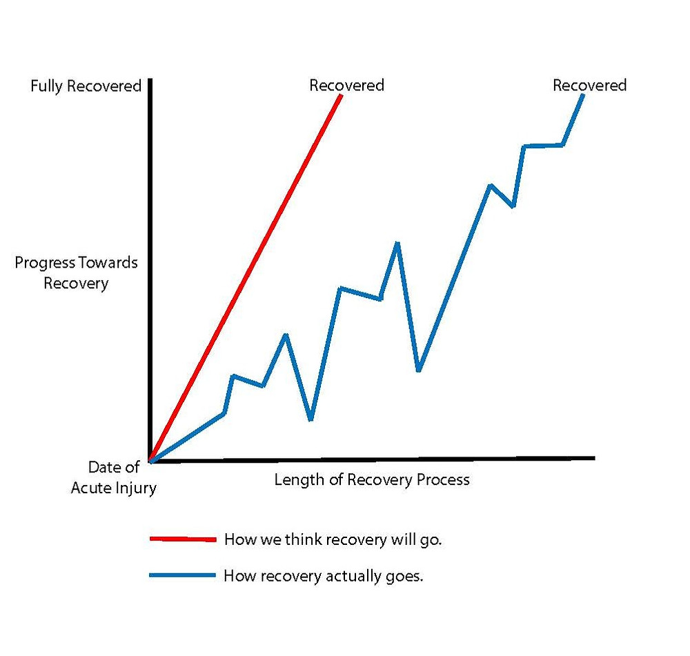 A graph to show how long injury recovery takes