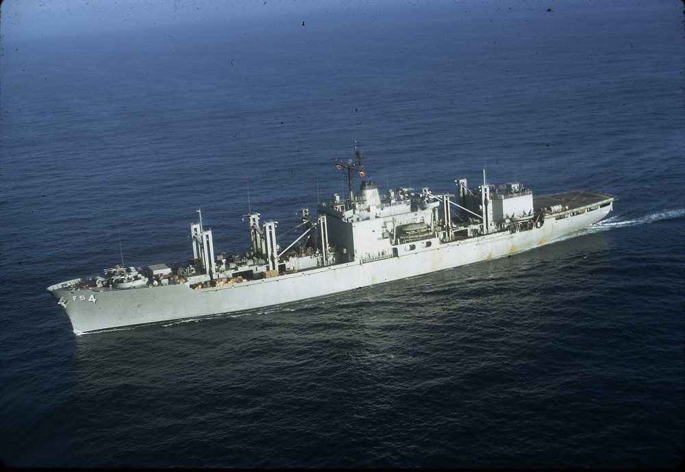USS White Plaines in the Pacific (Click on the picture to see More)