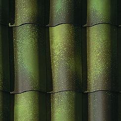 Ludowici Roof Tile Straight Mission Barrel Tile Swatch