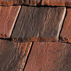 Ludowici Roof Tile Rustic Colonial Clay Shingle Tile Swatch