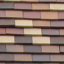 Ludowici Roof Tile Flat Slab Clay Shingle Tile Swatch