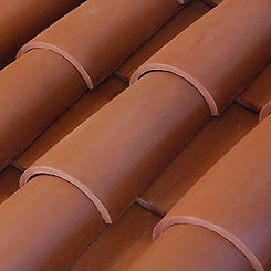 Ludowici Roof Tile Tapered Mission Barrel Swatch