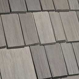 DaVinci Roofscapes Bellaforte Shake Weathered Gray-VariBlend Swatch