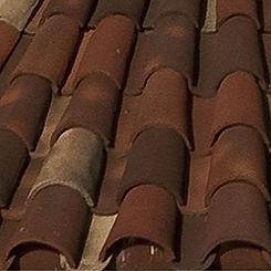 Ludowici Roof Tile Cubana Barrel Tile Swatch