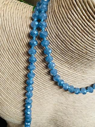 Sautoir en Cristal Bleu celeste