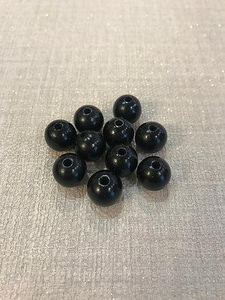 Perles en bois noire