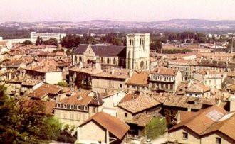 Bourgoin-Jallieu vor 40 Jahren - Blick von der Esplanade