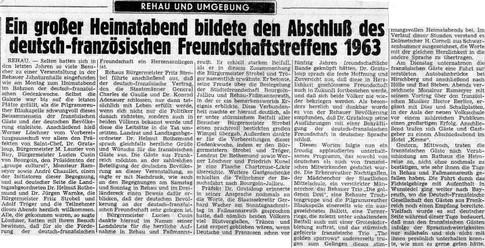 Rehauer Tagblatt vom 8.8.1963