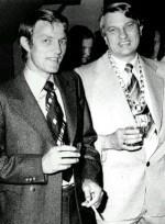 Heinz Thümler rechts, mit Claude Schlewer