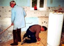 Ausbau der alten Küche.