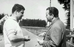 Die Gründerväter der Städtepartnerschaft: André Chazallet, Journalist in Bourgoin, und Werner Löschner, Herausgeber des Rehauer Tagblatts