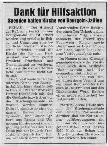 Rehauer Tagblatt 7.8.1986