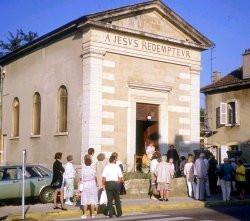 Die DFG sammelte für den Kauf der Nebengebäude der ref. Kirche in Bourgoin-Jallieu...