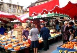 Markt in Bourgoin-Jallieu