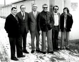Die Vorstandschaft 1978: v.l. Gustav Rothe, Karl Schneider, Hanns Walther, Edgar Feller, Klaus Ertle, Reinhard Steeger