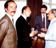 Thomas Müller, mit v.l. Dr. Jürgen Warnke, Rainer Thomas und Jean Rapillard