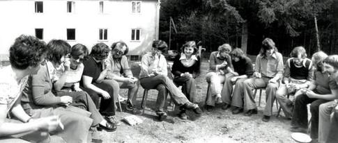 Eierhärten 1973 am Gästehaus