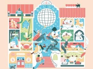 Airbnb Mural