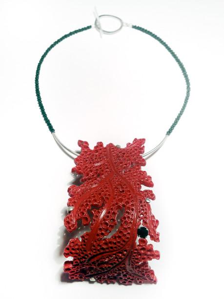 urban coral - neckpiece