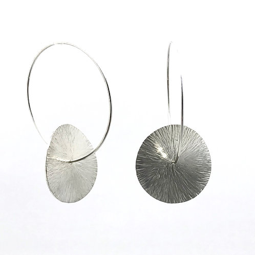 World Keeps Turning Earrings - satin or patinated