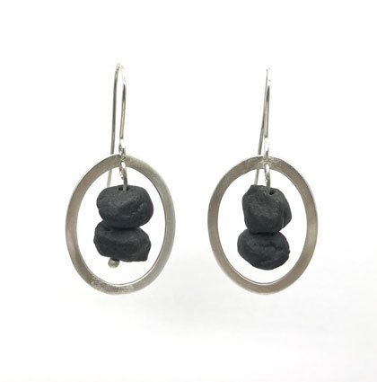 Pebble & pool earrings