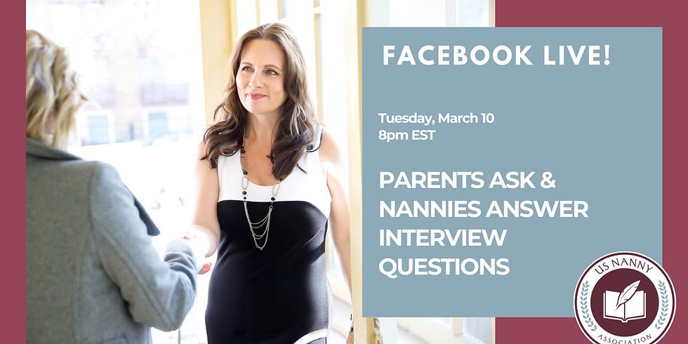 Simulacros de entrevistas con padres y niñeras