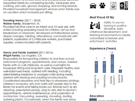 How to Update and Modernize Your Nanny Resume