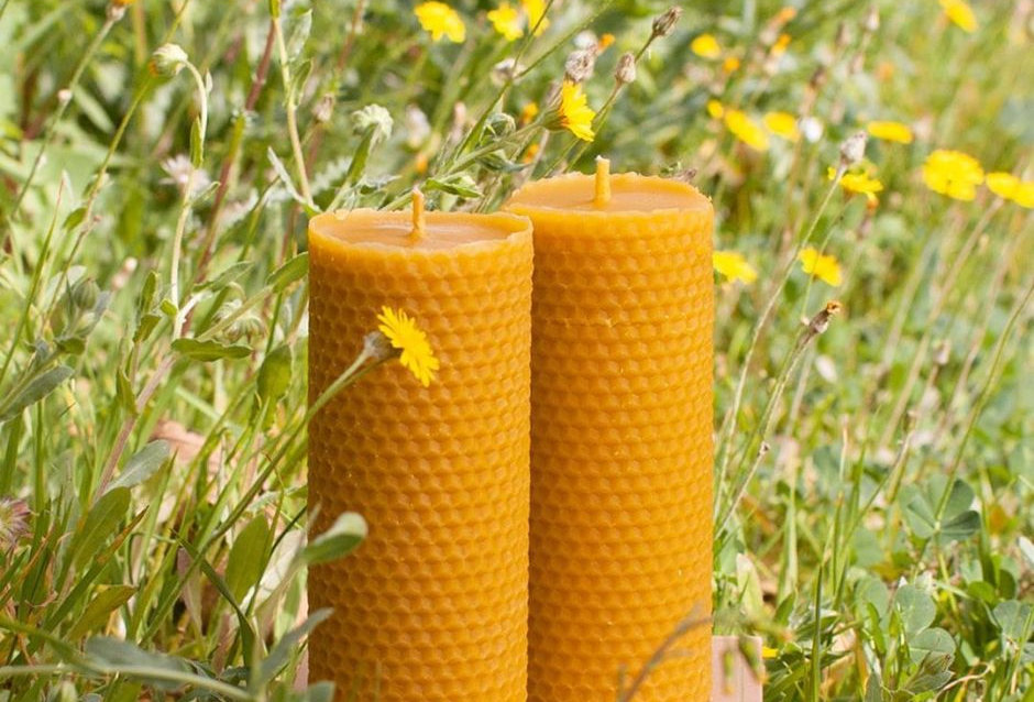 Beeswax Pillar Candles – Ambroise – box of 2