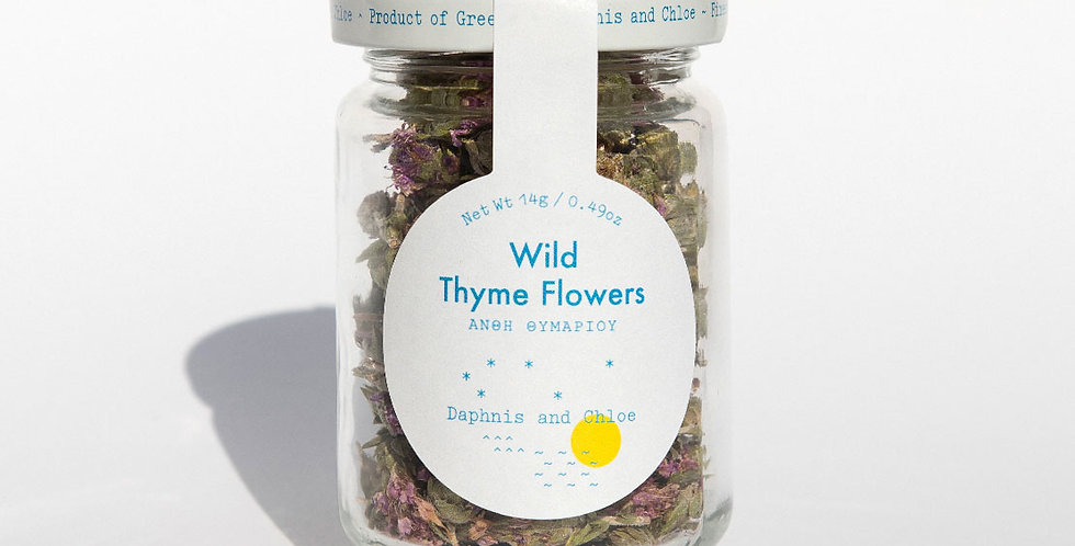 Wild Thyme Flowers Jar