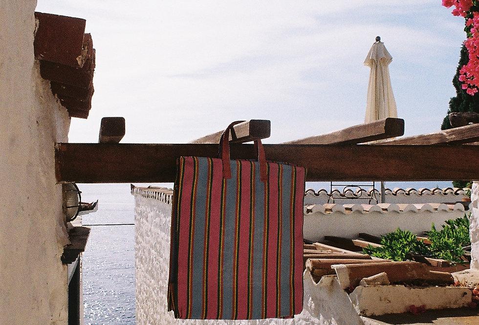 Mercato Bags Pink/Blue Stripe