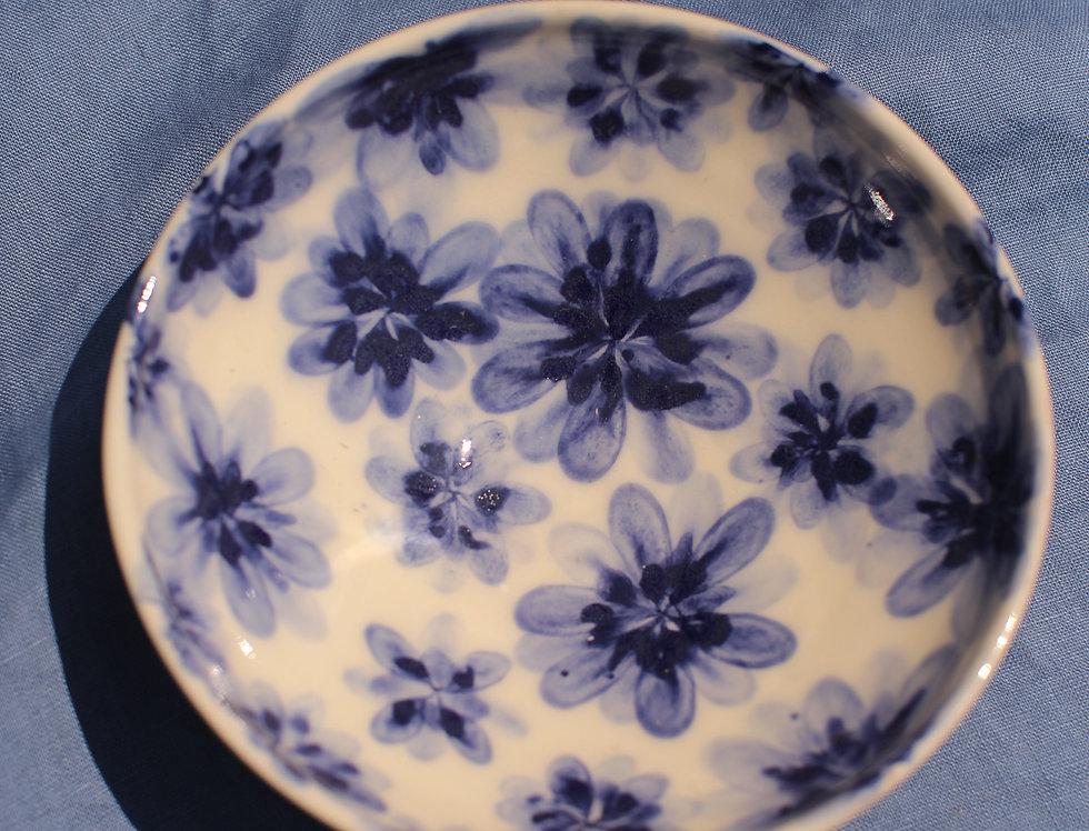 Medium Ceramic Bowl - Aegean Collection - Blue Floral