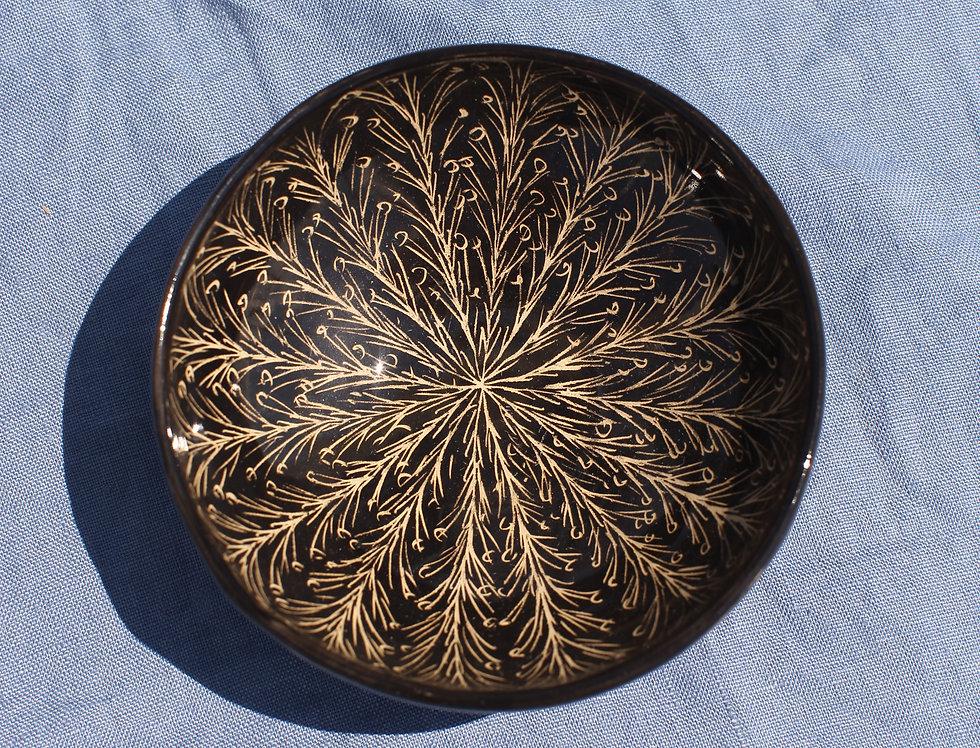 Small Ceramic Bowl - Nero Collection - Branches