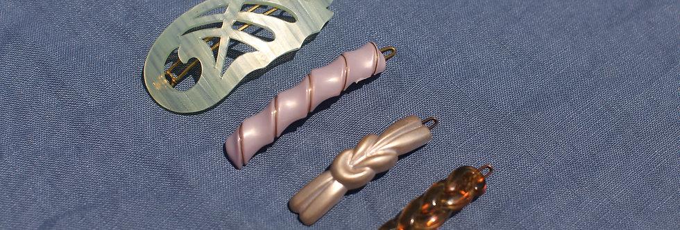 Granita - Vintage French Hair Clips - Set of 4