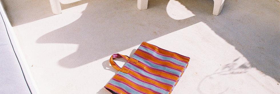 Mercato Bags Orange/Blue Stripe