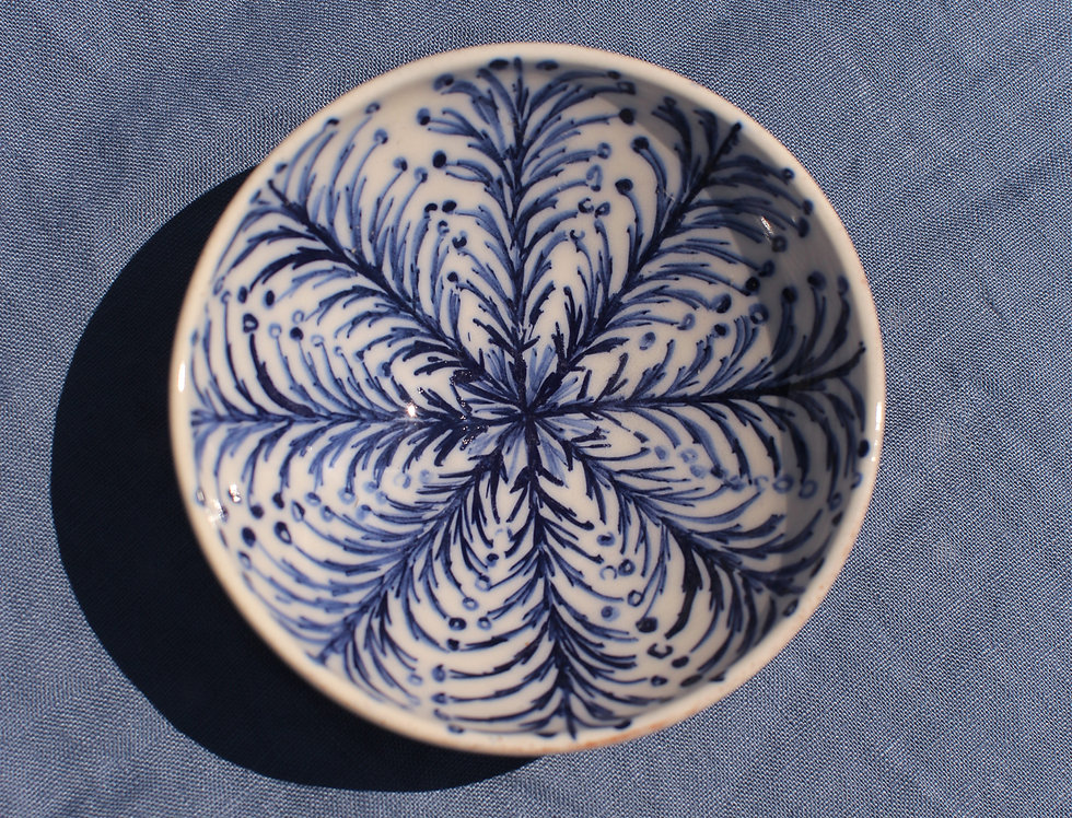 Small Ceramic Bowl - Aegean Collection - Blue Branches
