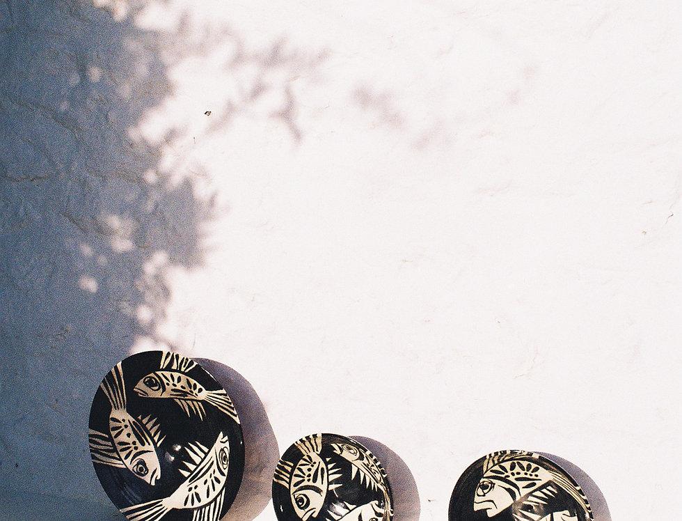 XL Ceramic Bowl - Nero Collection - Scorpion Fish 3
