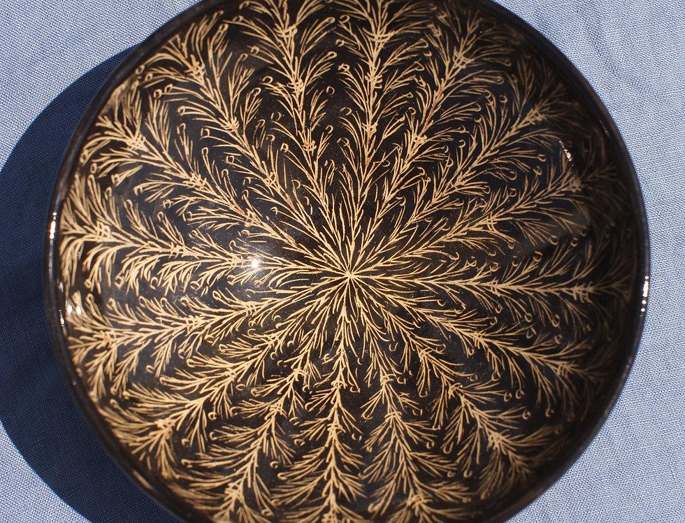 Medium Ceramic Bowl - Nero Collection - Branches